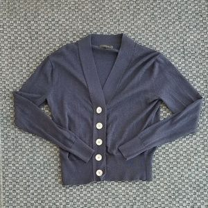 J. Crew Navy Cardigan with Big Buttons